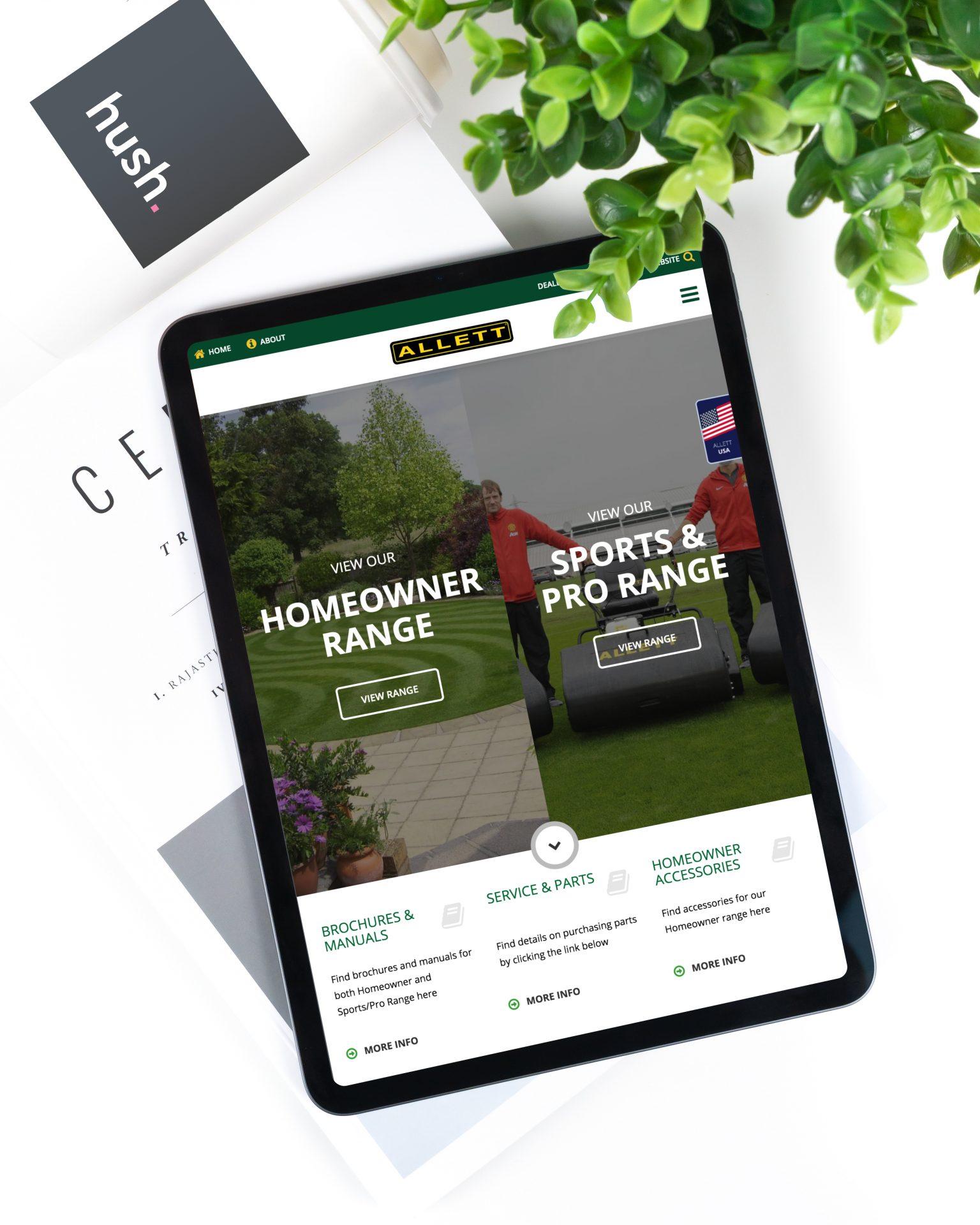 Allett Mowers | Tablet Shot | eCommerce Website