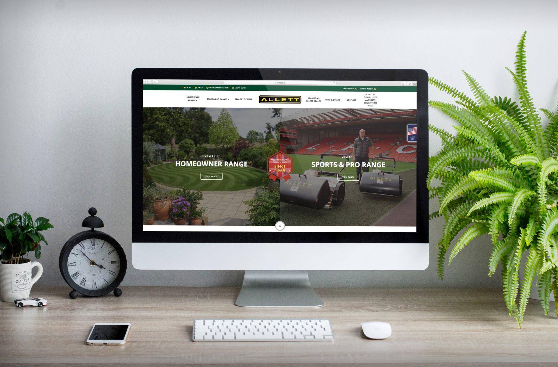 Allett Mowers | Hush Digital | Web Design Darlington