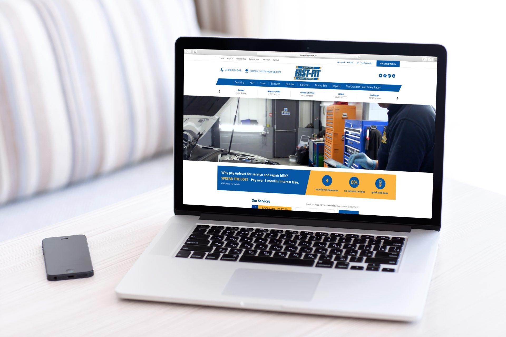 Croxdale Fast-Fit l Hush Digital   Web Design Darlington