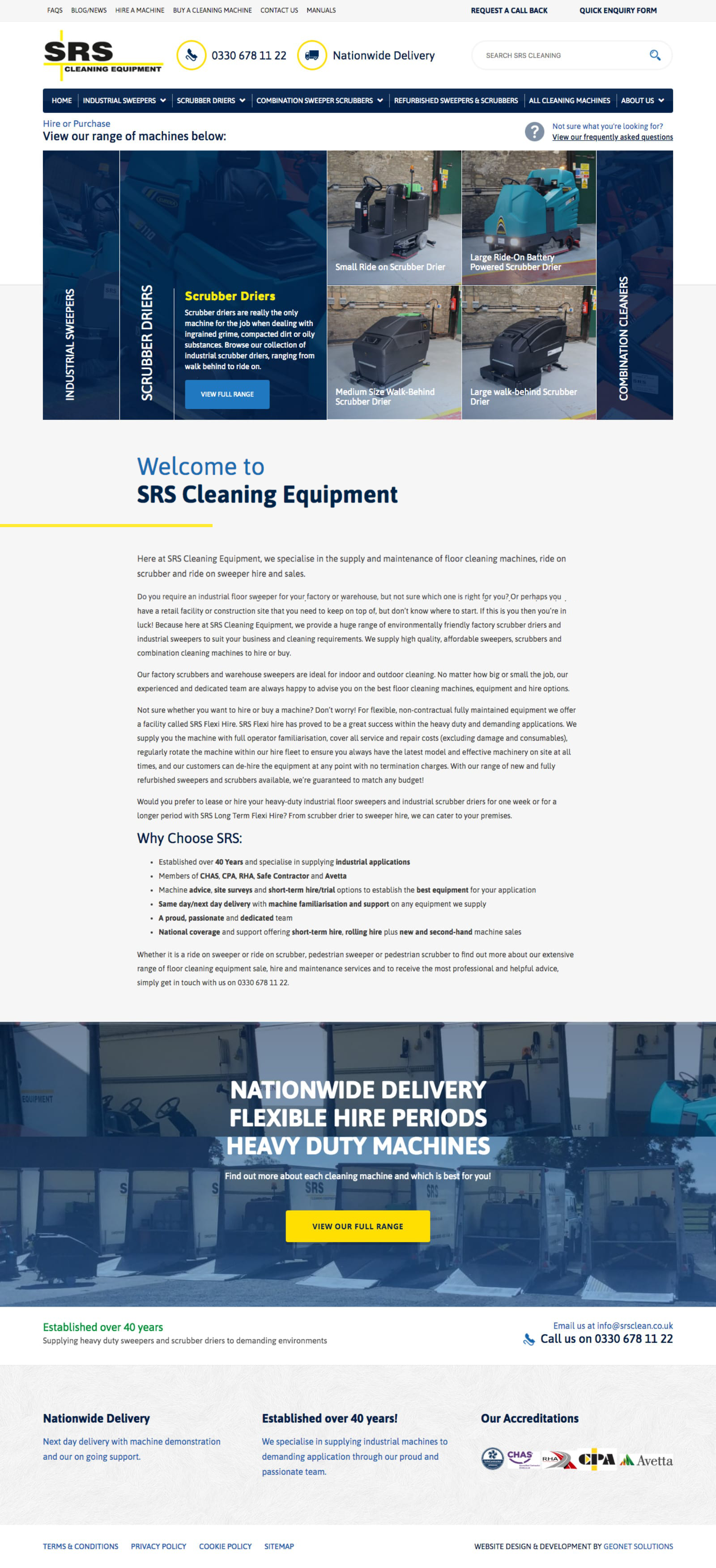 SRS Cleaning Equipment | Portfolio | Hush Digital