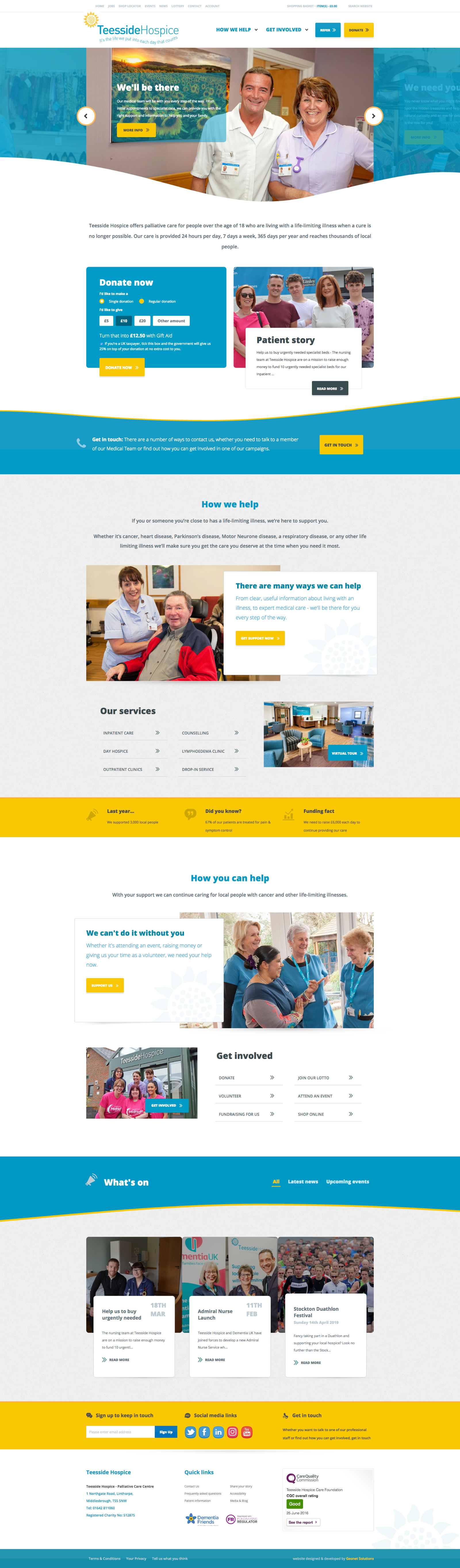Teesside Hospice Web Design l Hush Digital | Web Design Darlington