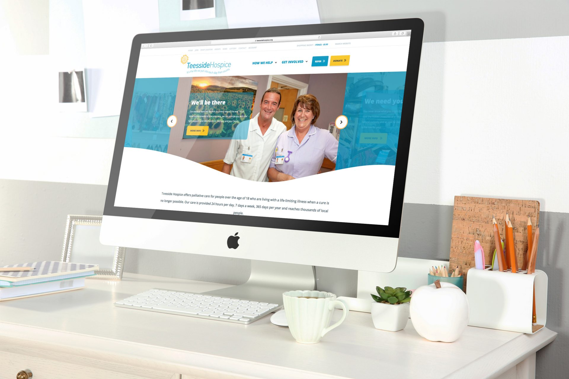 Teesside Hospice l Hush Digital | Web Design Darlington