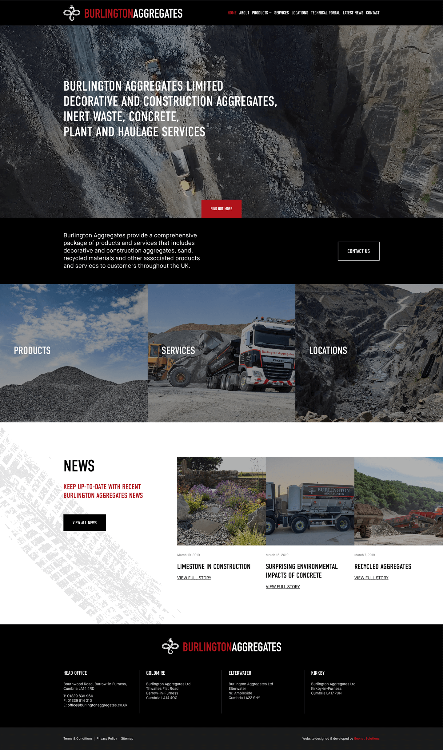 Burlington Aggregates | Portfolio | Hush Digital