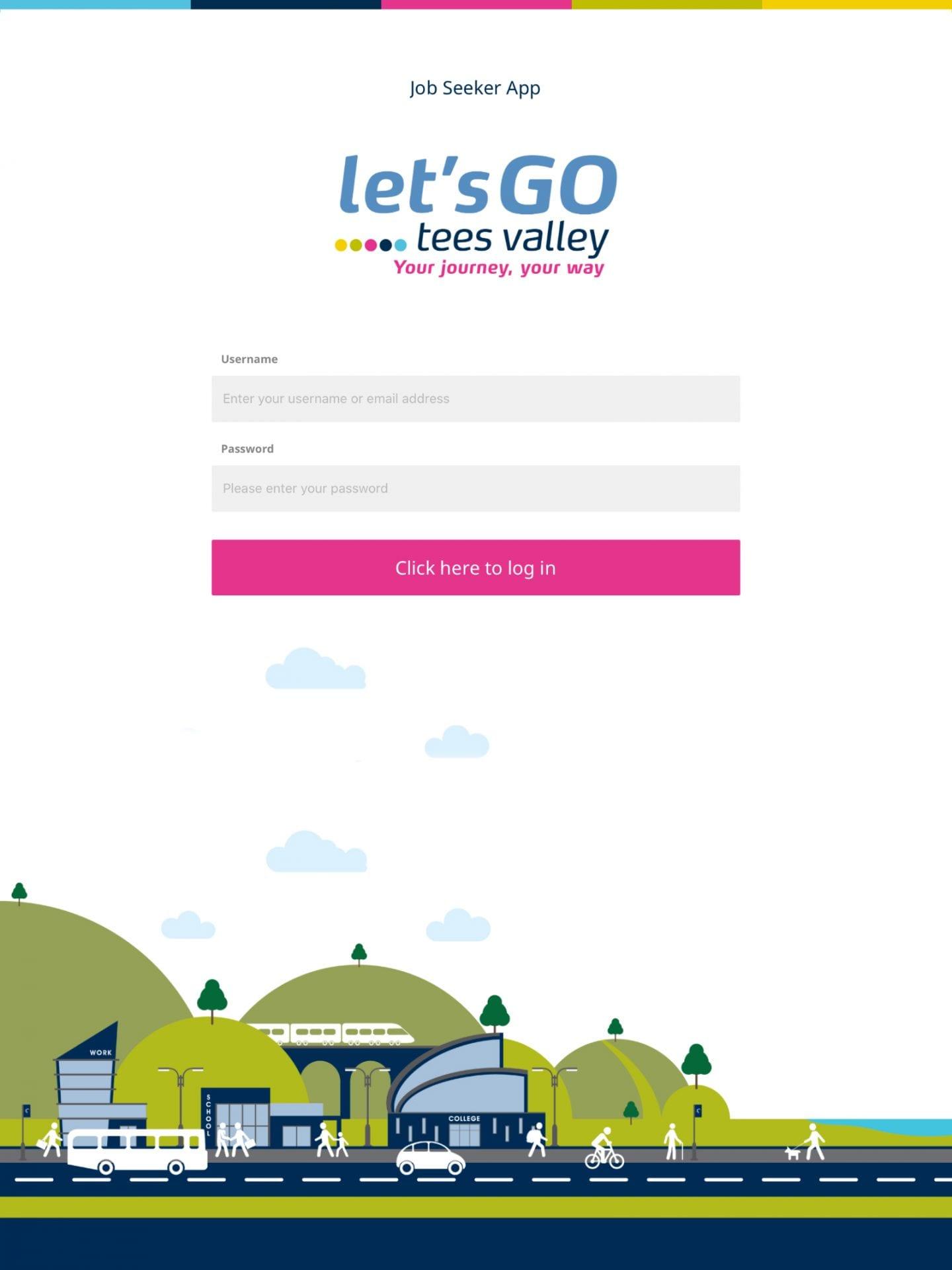 Let's Go Tees Valley - Job Seeker App