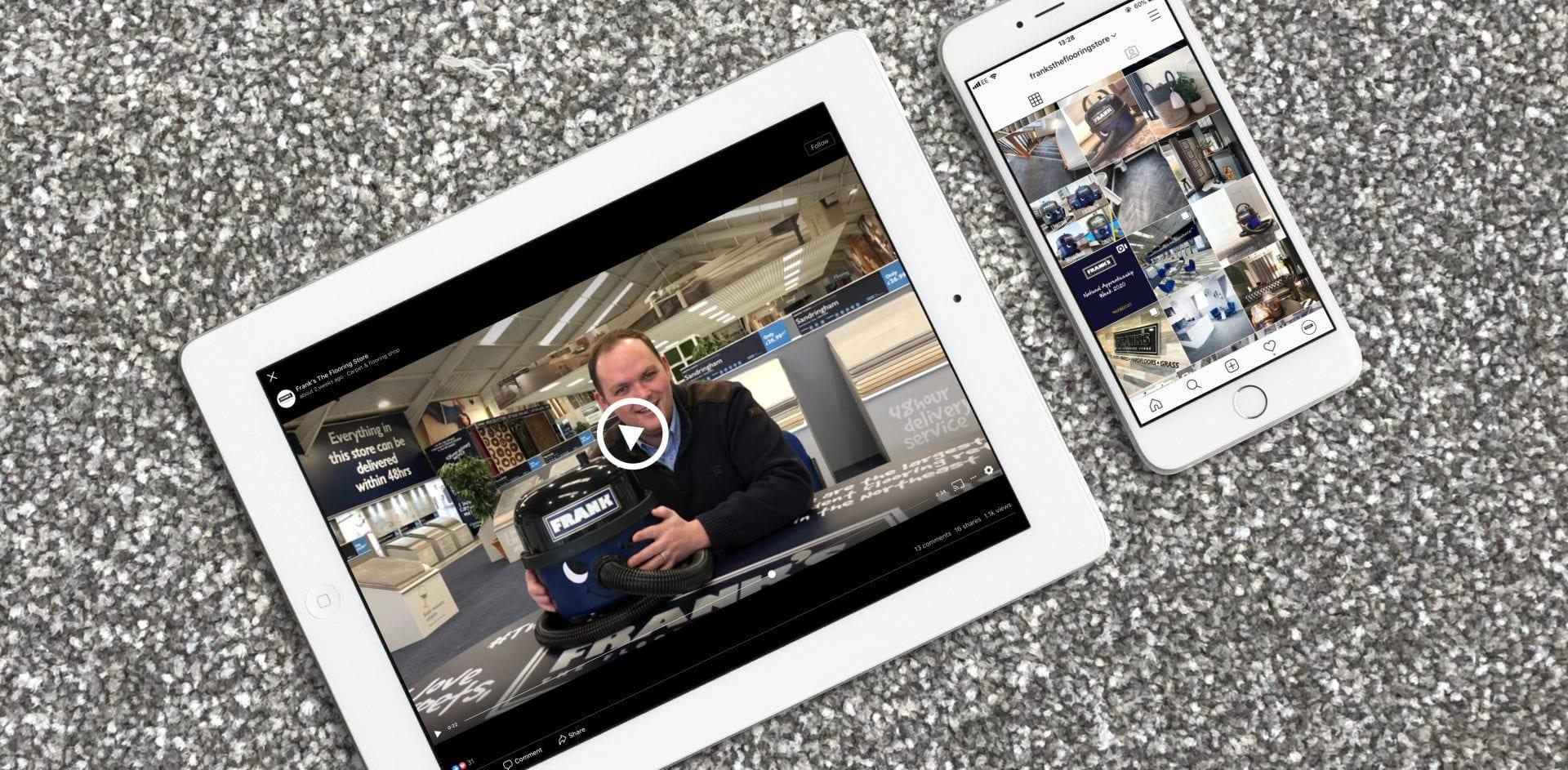 Frank's The Flooring Store | Portfolio | Hush Digital Digital Marketing Darlington